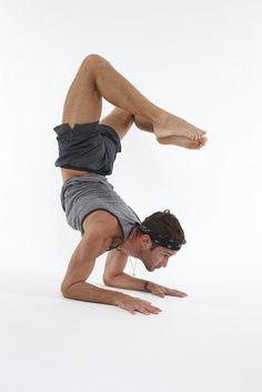 beautiful yoga male man guy inversion