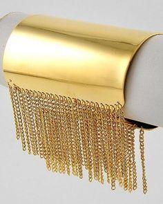 Chain Fringe Cuff Bracelet