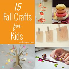 15 Fall Crafts for Kids.  Oh my these are so cute!  #Thanksgiving #crafts #kids