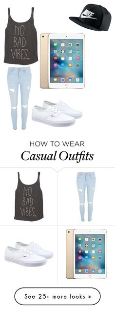 """casual"" by pb8880 on Polyvore featuring River Island, Billabong, Vans, NIKE, women's clothing, women's fashion, women, female, woman and misses"