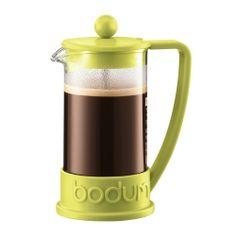 BRAZIL   French Press coffee maker, 3 cup, 0.35 l, 12 oz Lime green