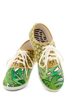Quirk It Sneaker in Palm Leaves, #ModCloth