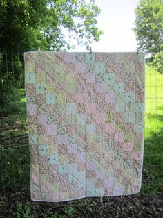 Baby quilt, hand-quilted
