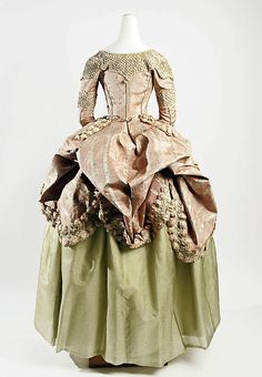 18th Century Dress, French, silk