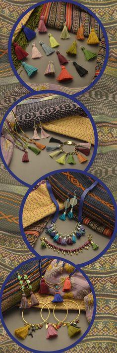 Explore the Trend:: Tassel Jewelry, Tassel Bracelets, Tassel Necklaces and Tassel Earrings http://www.ninadesigns.com/jewelry_design_ideas/list/september_tassels/20/1