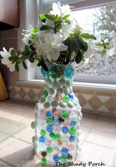 The Shady Porch: Suncatcher Vase - Earth Day Challenge