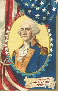 Americana. Vintage George Washington.