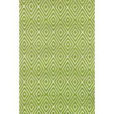 Found it at AllModern - Woven Diamond Sprout/White Rug