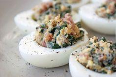 Leftover ham recipes via @familykitchen egg recipes, easter egg, hams, appet, food, green egg, deviled eggs, ham recip, devil egg