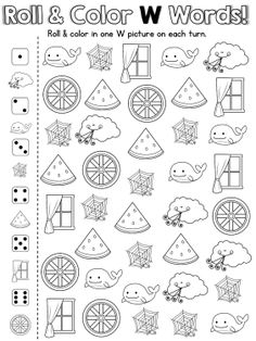 20 fun, ready to print games to practice the letter W. Awesome for RTI groups!