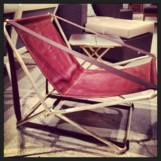Reissue from @Brown_Jordan now in brushed brass and buttery soft leather #HPMKT #M111
