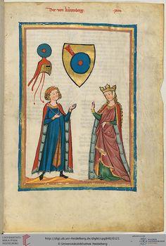 Codex, Manesse, Der von Kürenberg, Fol 063r, c. 1304-1340