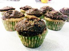 Vegan Banana Cupcakes with Chocolate-Peanut Butter Ganache Icing