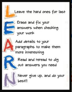 """FREE """"Test-Taking Strategy Poster"""" - Go to http://pinterest.com/TheBestofTPT/ for this and thousands of free lessons."""