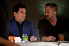 Still of Steve Carell and Ryan Gosling in Loco y estúpido amor