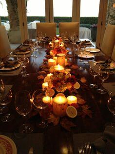 Thanksgiving.. Yolanda Foster's dining table.. be inspired..