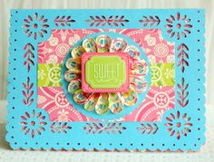 Card project from the Anna Griffin Summer Soirees Cricut cartridge