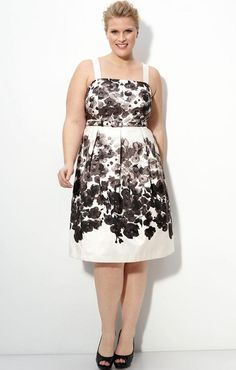Eliza J Floral Print Casual Dress for Plus Size