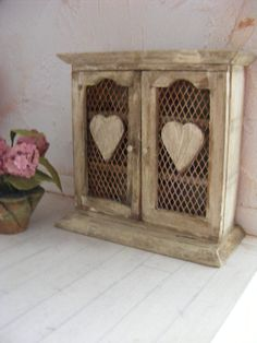 12th scale rustic cupboard-dolls house miniature