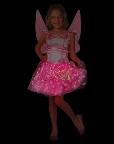 Light Up Petal Fairy Girl's Costume