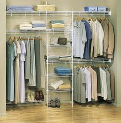 Create a beautiful and well thought out custom closet system with Wire Shelving. More home staging ideas at www.goeye4design.com