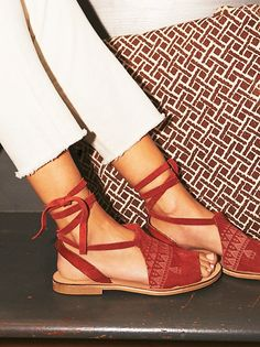 folk song sandal Free People bohemian boho shoes style
