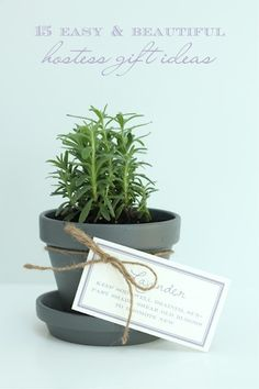 15 easy & beautiful hostess gift ideas