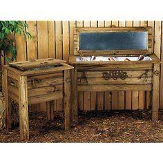 Barn wood cooler