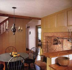 kitchens, kitchen chic, hearths, countri life, keeping room, windsor chairs, architectur decor, kitchen hearth