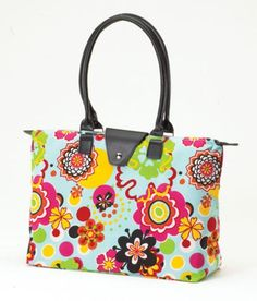 Tote Bag JoAnn Marie Designs Flower Power Fold-Up Travel Shopping http://stores.ebay.com/beachcats-bargains beachcats bargains