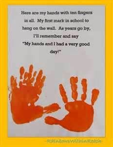 Cute poem for first day of school - send home along with a photograph of the child playing with their new friends.