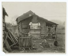 Cabin of John Sevier, one of the prominent men of the times who settled in Knoxville in its earliest days, about 1807.
