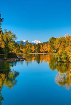 mirror reflect, beauti place, bend oregon, central oregon, bend colorado, mirror pond