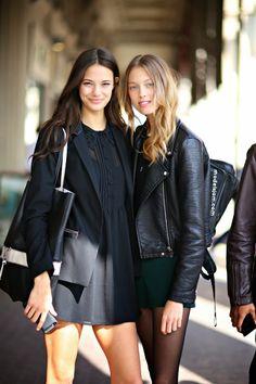 MODELS JAM: Anja Leuenberger and Anna Zanovello, Paris, September 2014 http://www.modelsjam.com/2014/10/anja-leuenberger-and-anna-zanovello.html