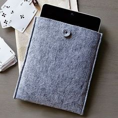 If I ever get an iPad, I'm buying this felt iPad cover!