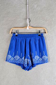 Smooth Sailing Shorts: Blue