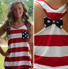 The PERFECT 4th of July tank! ** I NEED TO MAKE THIS** so cute!