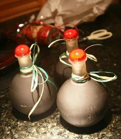 Nice packaging ~ Homemade Baileys Irish Cream, Kaluha and Amaretto Recipe