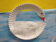 paper plate swans...pond theme for preschoolers