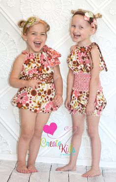 Hannah's Pillowcase Bubble Romper FREE PDF Sewing Pattern by Create Kids Couture
