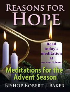 Online every day, or download a booklet -- daily meditations for Advent by Bp. Robert J. Baker.