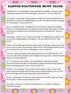 Easter Scavenger Hunt Ideas (Free Printable) #KidsActivities