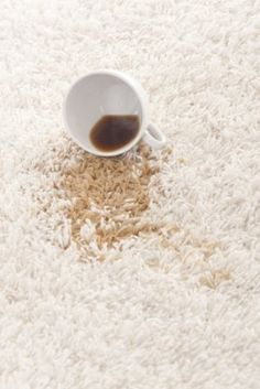 They have an ugly coffee stain on their carpeting that they want to get out, but they can't afford to call in a professional. Is there a way to clean up the coffee stain?