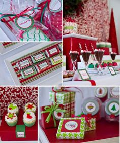 Classic party decor and favors