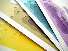 topographic paper layering
