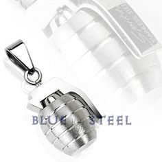 PIN IT TO WIN IT! Grenade: Grenade shaped pendant provides a terrific look that is sure to give you a confident style.     $39.99  www.buybluesteel.com   #buybluesteel