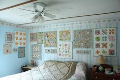 Mini Quilts on the Wall