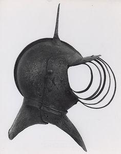 English    Funerary Close Helmet, 1600/1700    Steel, paint- Art Institute of Chicago