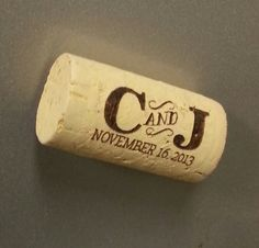 Personalized Cork Magnets - Save the Date, Wedding Favors