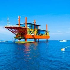 Seaventures is an oil rig turned dive resort in Borneo. With programs for beginners and elite divers, it is a great place to spot giant turtles and schools of pretty fish.